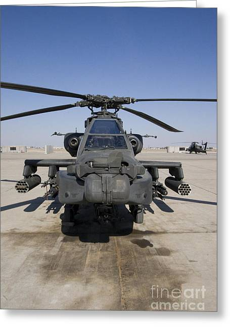 Launcher Greeting Cards - An Ah-64d Apache Longbow Block Iii Greeting Card by Terry Moore