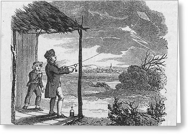 1752 Greeting Cards - Benjamin Franklin Greeting Card by Granger
