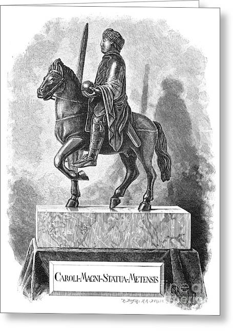 Statue Portrait Photographs Greeting Cards - Charlemagne (742-814) Greeting Card by Granger