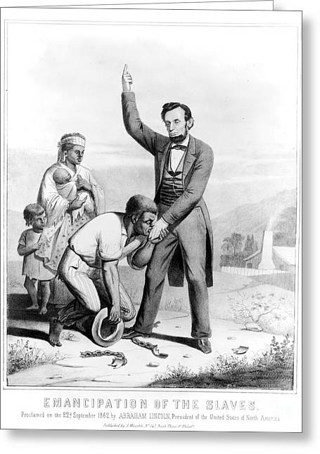 Abolition Movement Greeting Cards - Emancipation Proclamation Greeting Card by Granger