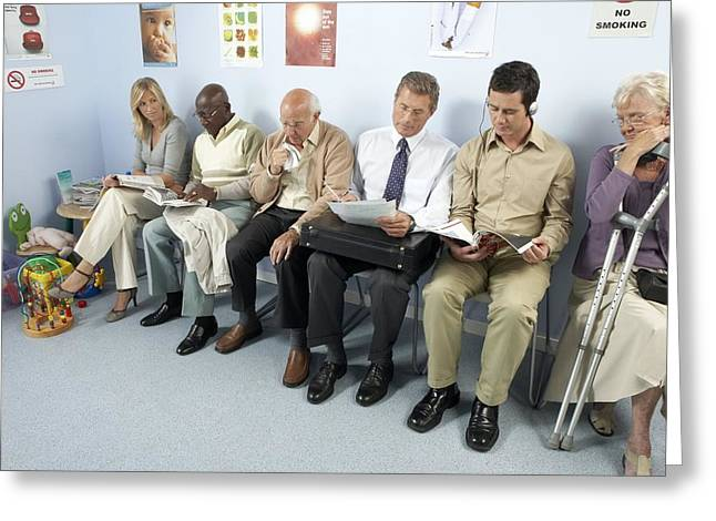 General Practice Waiting Room Greeting Card by Adam Gault