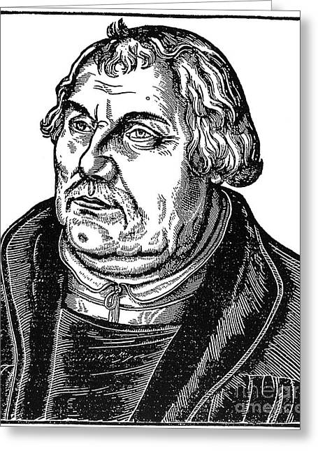 Reformer Greeting Cards - Martin Luther (1483-1546) Greeting Card by Granger