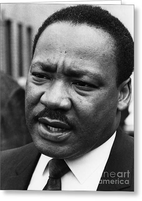 Reformer Greeting Cards - Martin Luther King, Jr Greeting Card by Granger
