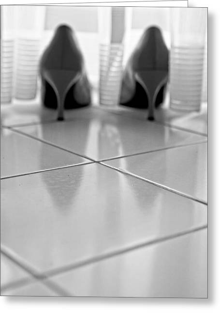 Tiling Greeting Cards - Pumps Greeting Card by Joana Kruse