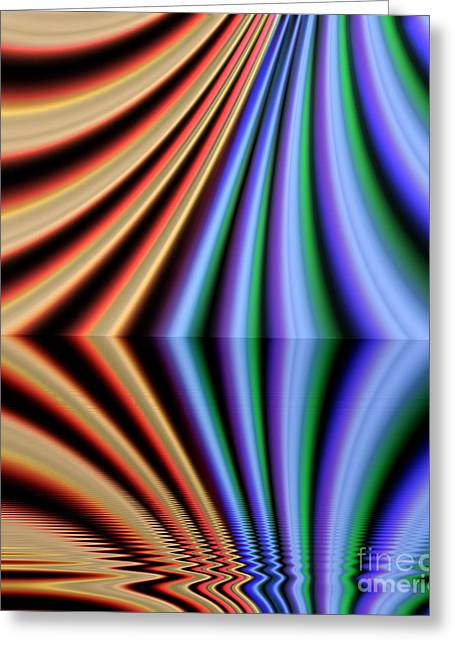 Sweating Digital Art Greeting Cards -  Fractal reflection Greeting Card by Odon Czintos