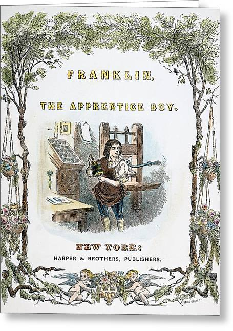 Franklin Press Greeting Cards - Benjamin Franklin Greeting Card by Granger