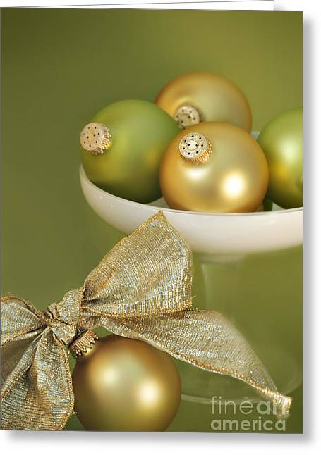 Goblet Greeting Cards - Christmas Ornaments Greeting Card by HD Connelly