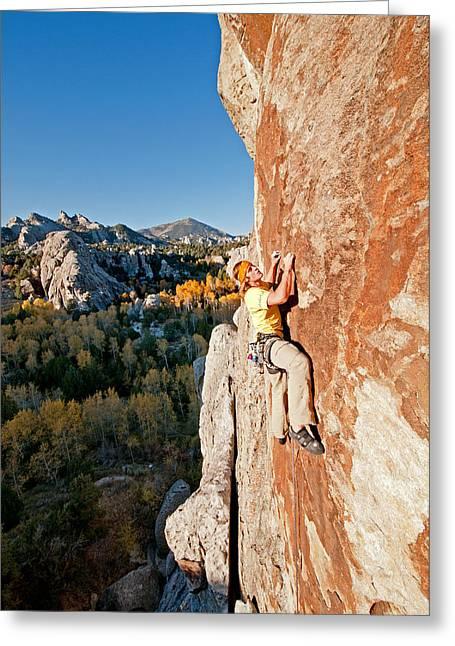 Vertigo Greeting Cards - Climber Greeting Card by Elijah Weber