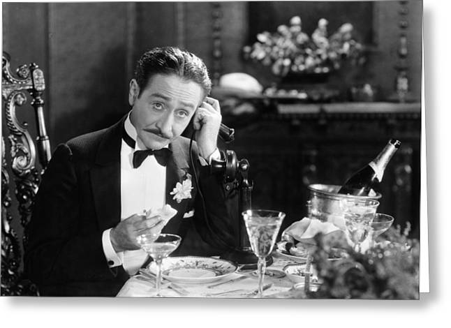 Tuxedo Greeting Cards - Film Still: Telephones Greeting Card by Granger