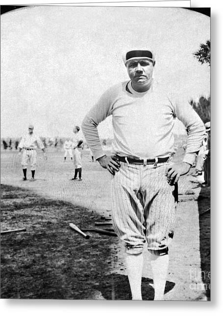Baseball Uniform Greeting Cards - George H. Ruth (1895-1948) Greeting Card by Granger
