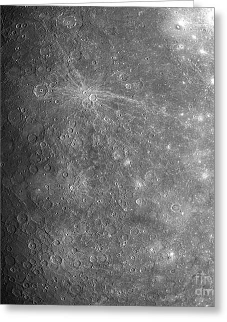 Unseen Greeting Cards - Mercury Greeting Card by Nasa