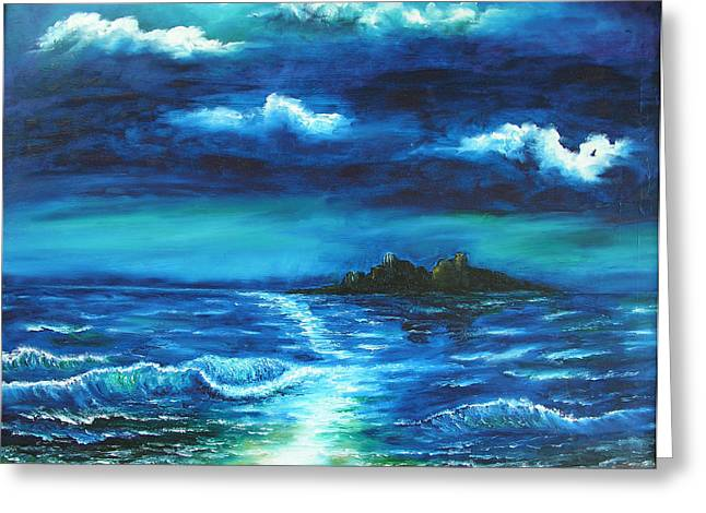 Ocean Landscape Greeting Cards - Untitled Greeting Card by Adam Vance