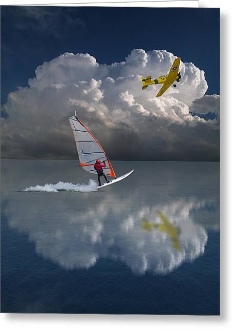 Windsurfer Greeting Cards - 1621 Greeting Card by Peter Holme III
