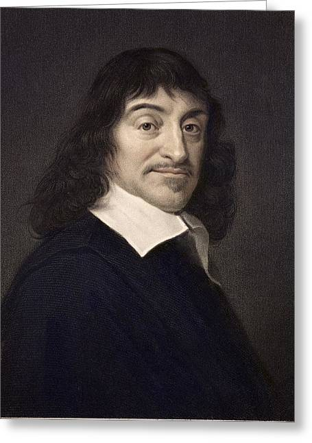 1649 Rene Descartes Portrait Philosopher Greeting Card by Paul D Stewart