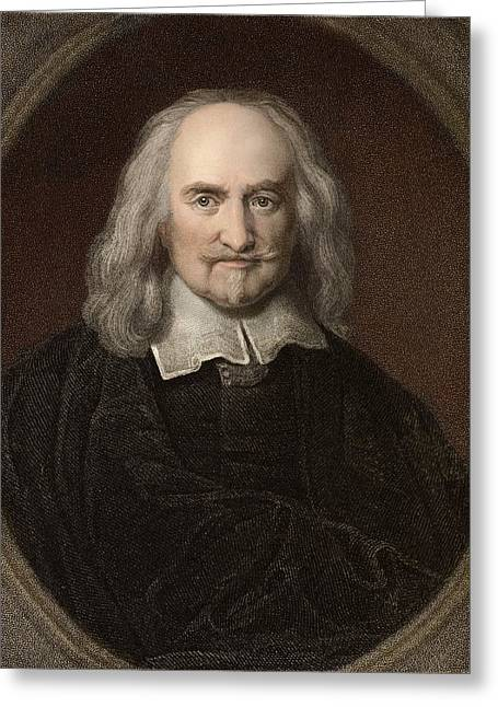Sociology Greeting Cards - 1660 Thomas Hobbes English Philosopher Greeting Card by Paul D Stewart