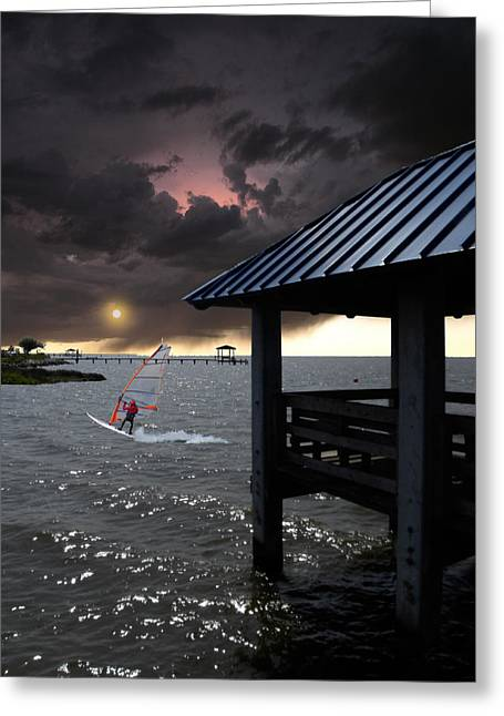 Windsurfer Greeting Cards - 1665 Greeting Card by Peter Holme III