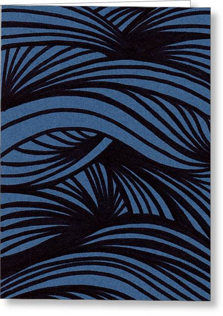 Ink Drawings Greeting Cards - Abstract Greeting Card by HD Connelly