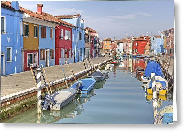Spiegelung Greeting Cards - Burano Greeting Card by Joana Kruse