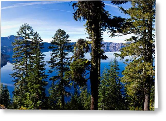 Crater Lake Panorama Greeting Cards - Crater Lake National Park Greeting Card by Twenty Two North Photography