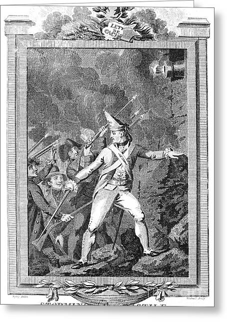 Bastille Photographs Greeting Cards - French Revolution, 1789 Greeting Card by Granger