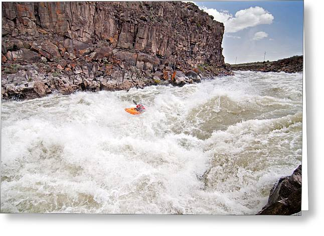 Keyes Greeting Cards - Kayaking Greeting Card by Elijah Weber