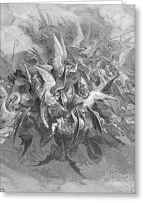 Dore Greeting Cards - Milton: Paradise Lost Greeting Card by Granger