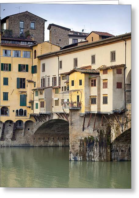 Michelangelo Greeting Cards - Ponte Vecchio Greeting Card by Andre Goncalves