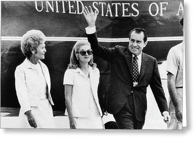 First-lady Greeting Cards - Richard Nixon (1913-1994) Greeting Card by Granger