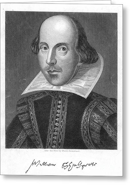 Engraving Greeting Cards - William Shakespeare Greeting Card by Granger