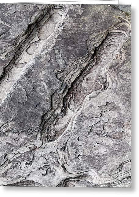 Natures Rock Art Greeting Card by Jack R Brock