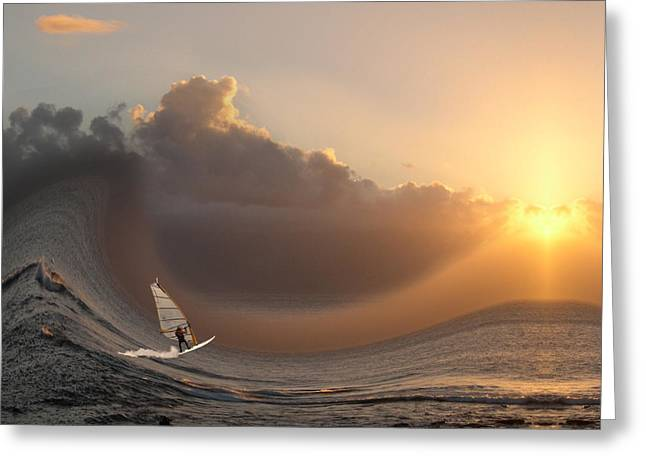 Wind Surfer Greeting Cards - 1746 Greeting Card by Peter Holme III