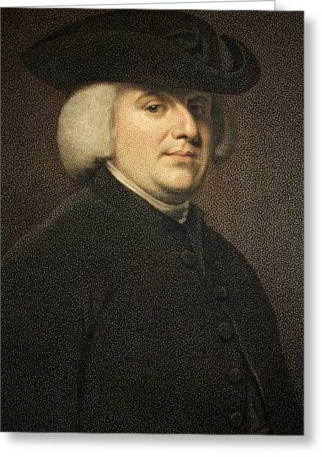 Creationism Greeting Cards - 1789 William Paley Portrait Naturalist Greeting Card by Paul D Stewart
