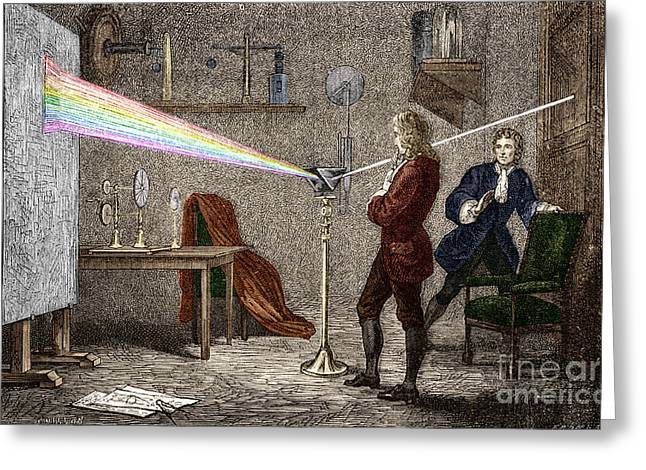 Isaac Newton Greeting Cards - Isaac Newton, English Polymath Greeting Card by Science Source