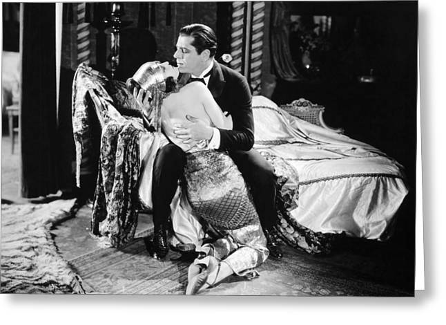 Chaise Photographs Greeting Cards - Silent Film Still: Couples Greeting Card by Granger