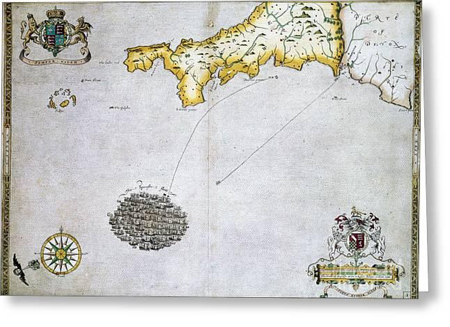 Spanish Armada, 1588 Greeting Card by Granger