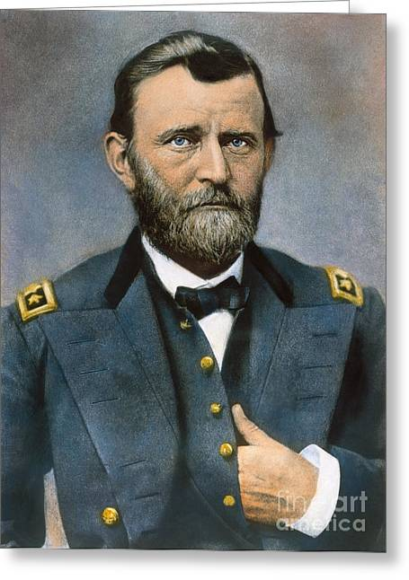 Lapel Greeting Cards - Ulysses S. Grant (1822-1885) Greeting Card by Granger