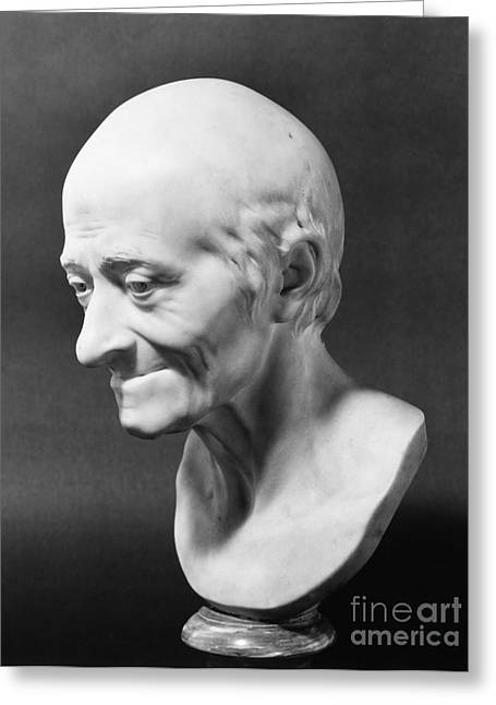 Portrait Sculpture Photograph Greeting Cards - Voltaire (1694-1778) Greeting Card by Granger