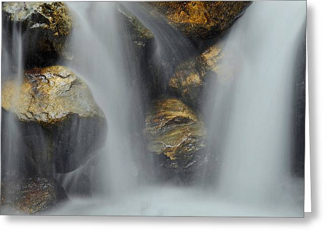 Big Sur California Greeting Cards - Water Movement Detail Greeting Card by Stephen  Vecchiotti