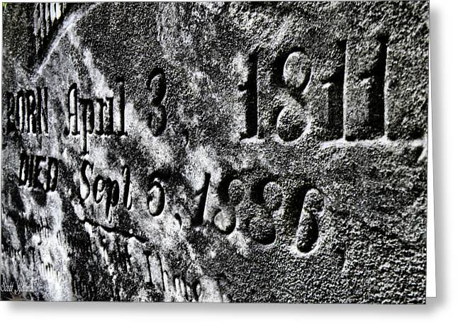 Spooky Grave Greeting Cards - 1811 To 1886 Greeting Card by Scott Hovind
