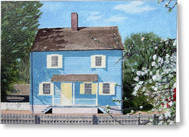 Old House Photographs Paintings Greeting Cards - 1825 Historical Old Salem CHRISTMAN HOUSE Greeting Card by Jason Zhang