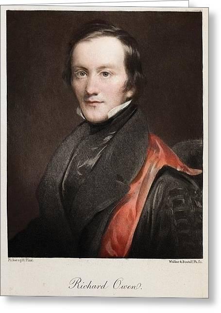 Moa Greeting Cards - 1841 Richard Owen Coined dinosaur Greeting Card by Paul D Stewart
