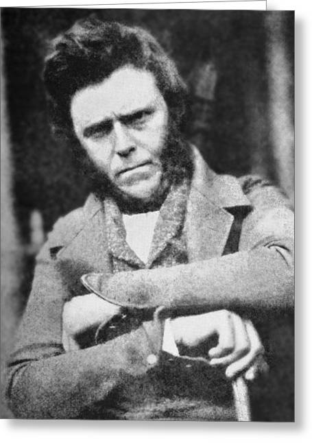 Amateur Greeting Cards - 1850 Hugh Miller Portrait Photograph Greeting Card by Paul D Stewart