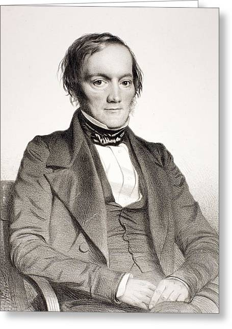 1850 Richard Owen Portrait Paleontologist Greeting Card by Paul D Stewart