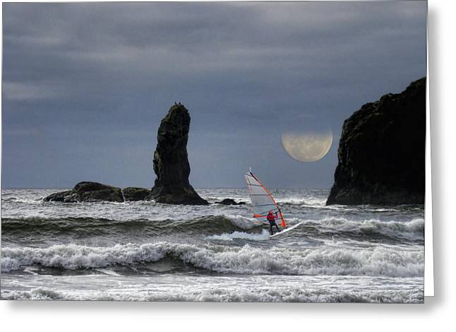 Windsurfer Greeting Cards - 1872 Greeting Card by Peter Holme III