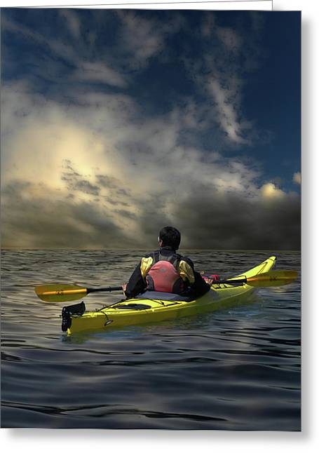 Kayaking Greeting Cards - 1874 Greeting Card by Peter Holme III