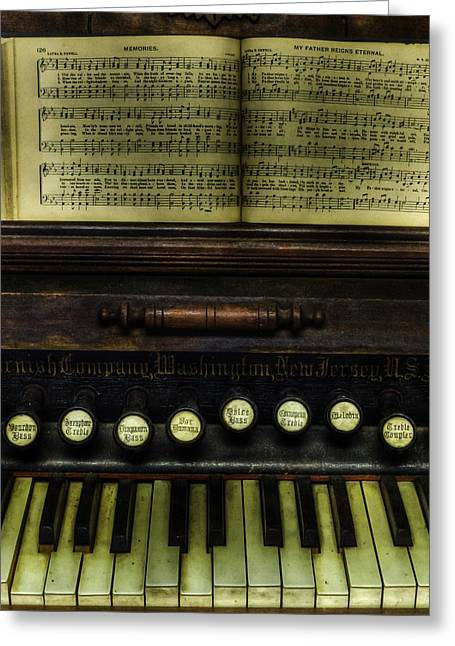 Do Business Greeting Cards - 1879 Cornish Piano and Organ Company Piano - vintage - nostalgia  Greeting Card by Lee Dos Santos