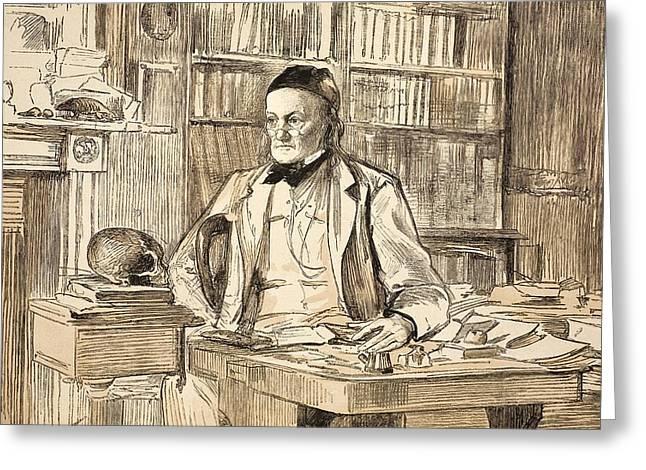 1883 Richard Owen's Study Ex Bmnh Greeting Card by Paul D Stewart