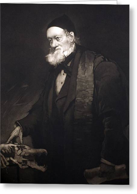 Moa Greeting Cards - 1889 Sir Richard Owen Portrait In Old Age Greeting Card by Paul D Stewart