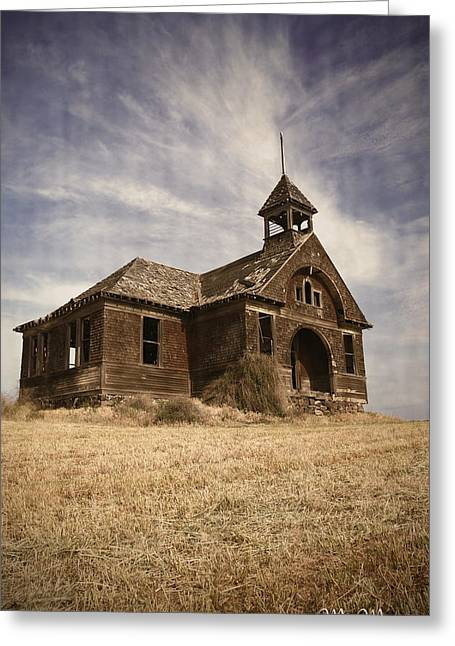 Old School House Greeting Cards - 1890 School House Greeting Card by Melisa Meyers