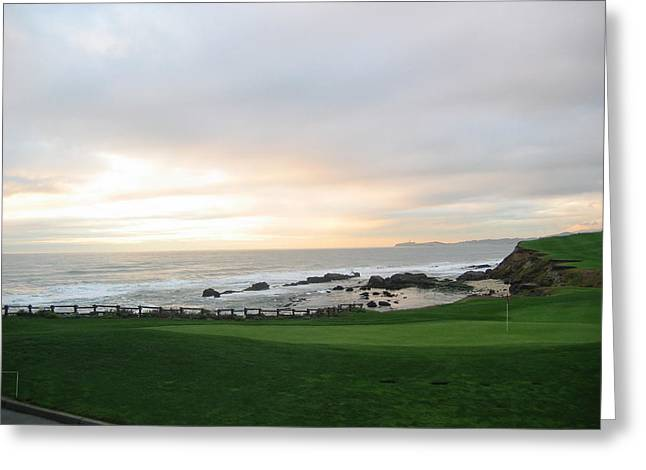 Best Sellers -  - Half Moon Bay Greeting Cards - 18th at Half Moon Bay Greeting Card by Marty Potter